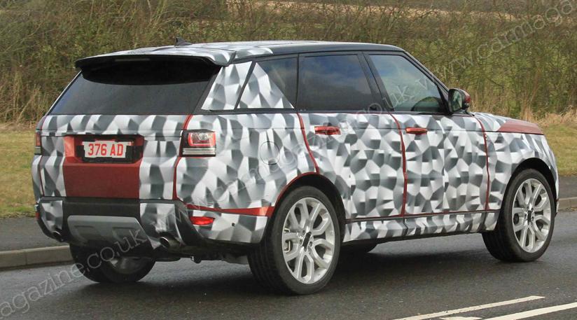 На новых фото range rover sport 2013 также видно