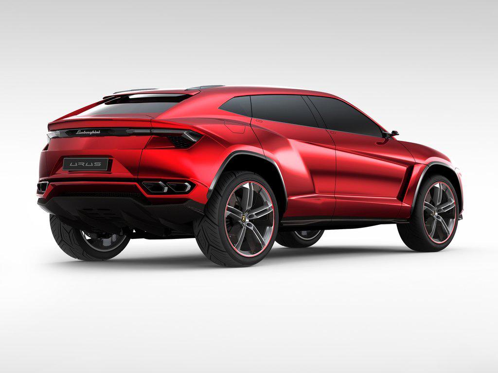 Концепт Lamborghini Urus - вид сзади