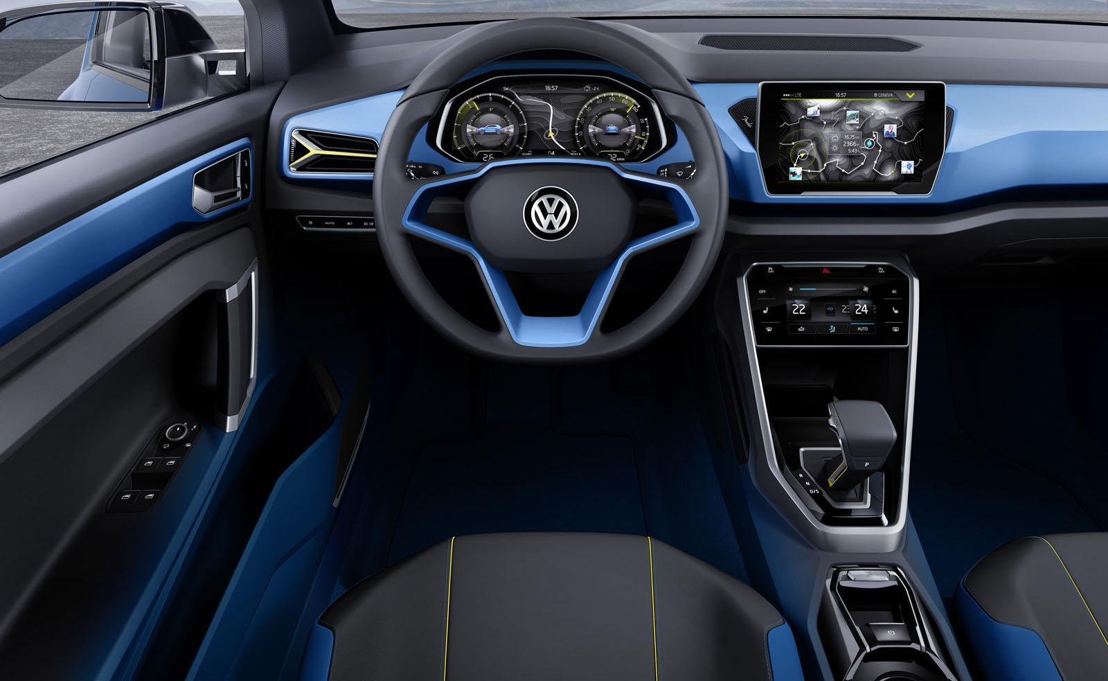 Концептуальный автомобиль VW T-ROC поступит в реализацию уже в2015 году