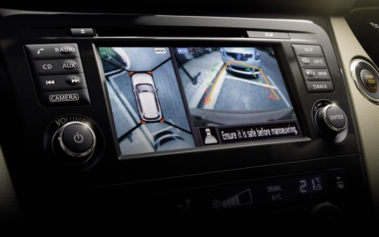 how to turn on top view camera audi