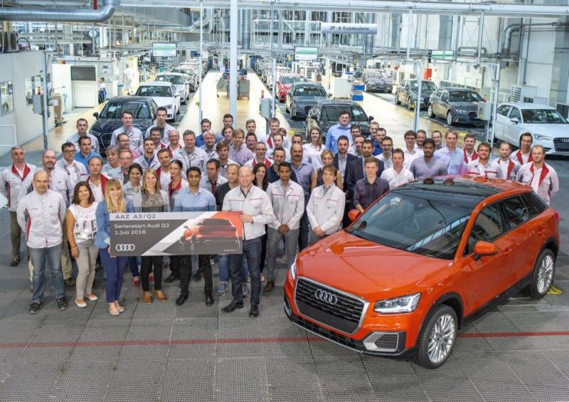 В Германии стартовало серийное производство кроссовера Audi Q2
