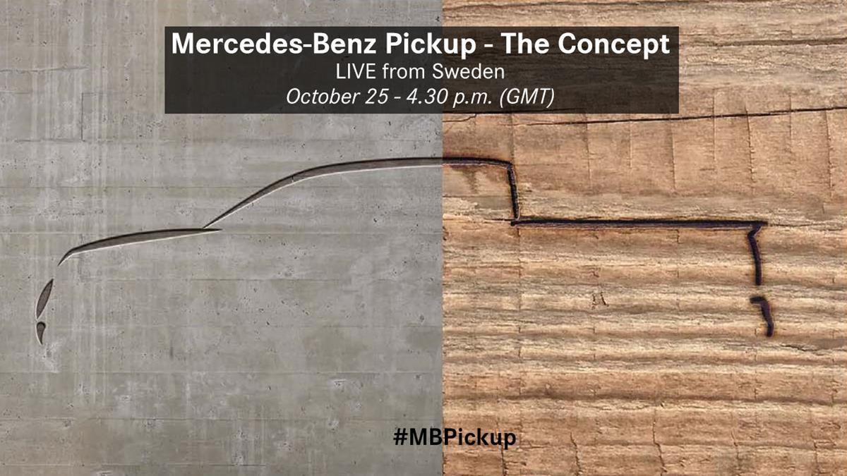 Mercedes представит свой первый пикап 25 октября