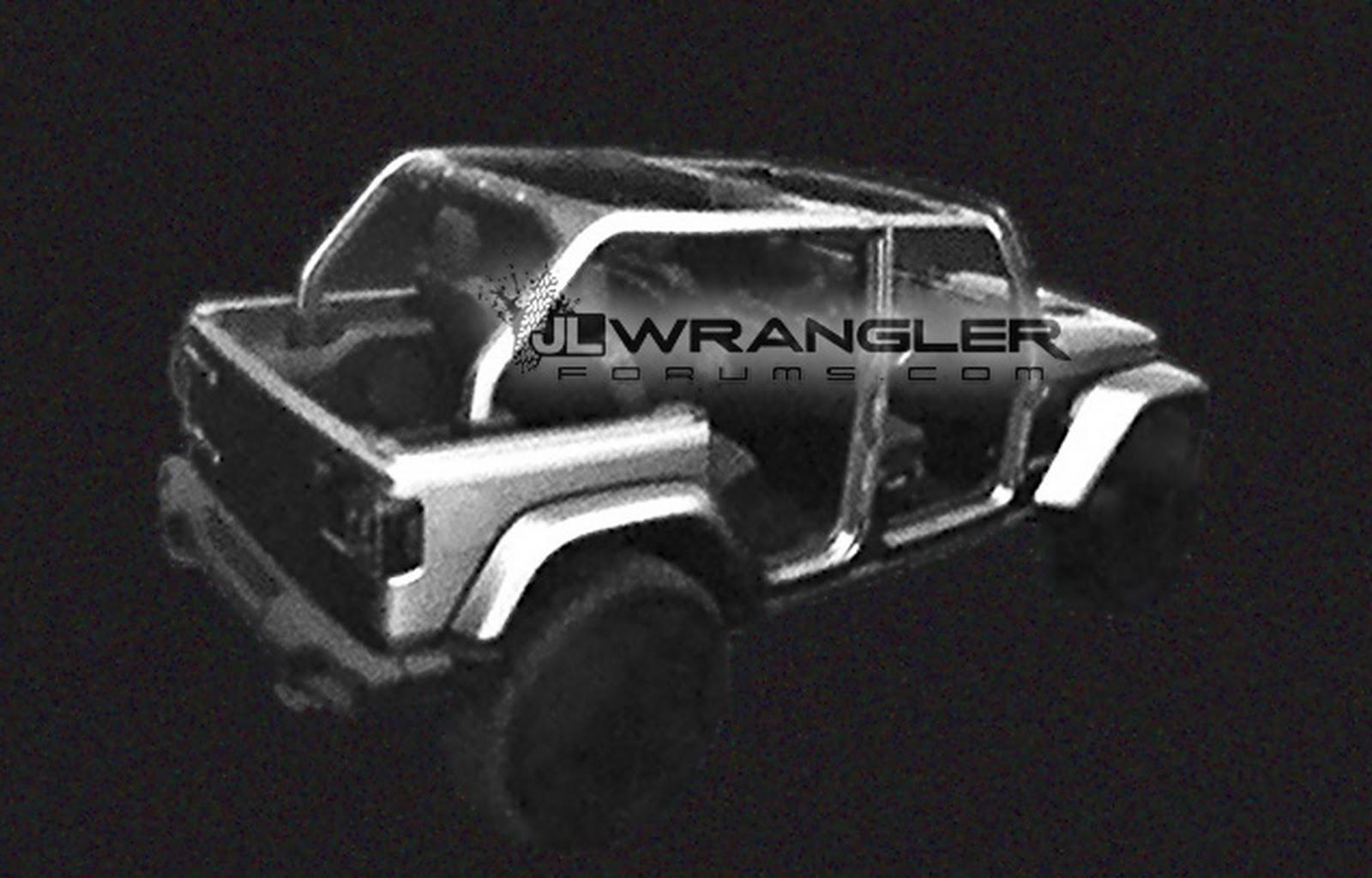 Первые изображения нового джипа Jeep WranglerJL