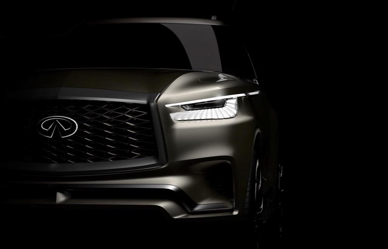 Врамках автомобильного салона вНью-Йорке компания Инфинити презентует новый вседорожный автомобиль