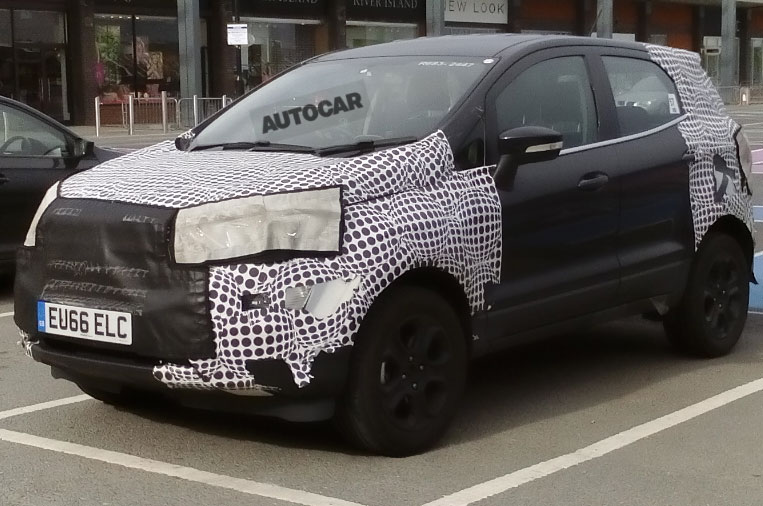 Британский Форд EcoSport попал вобъективы фотошпионов