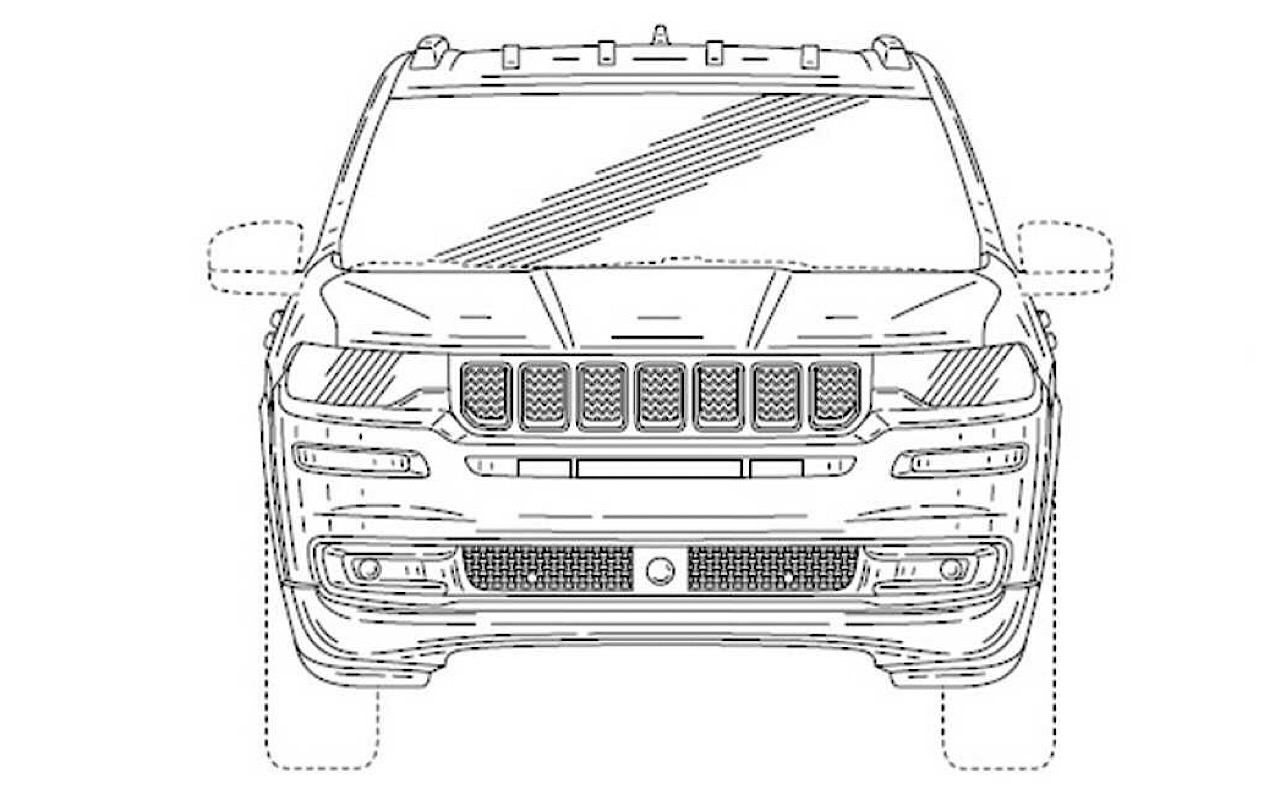 Патентные изображения джипа Jeep Grand Wagoneer