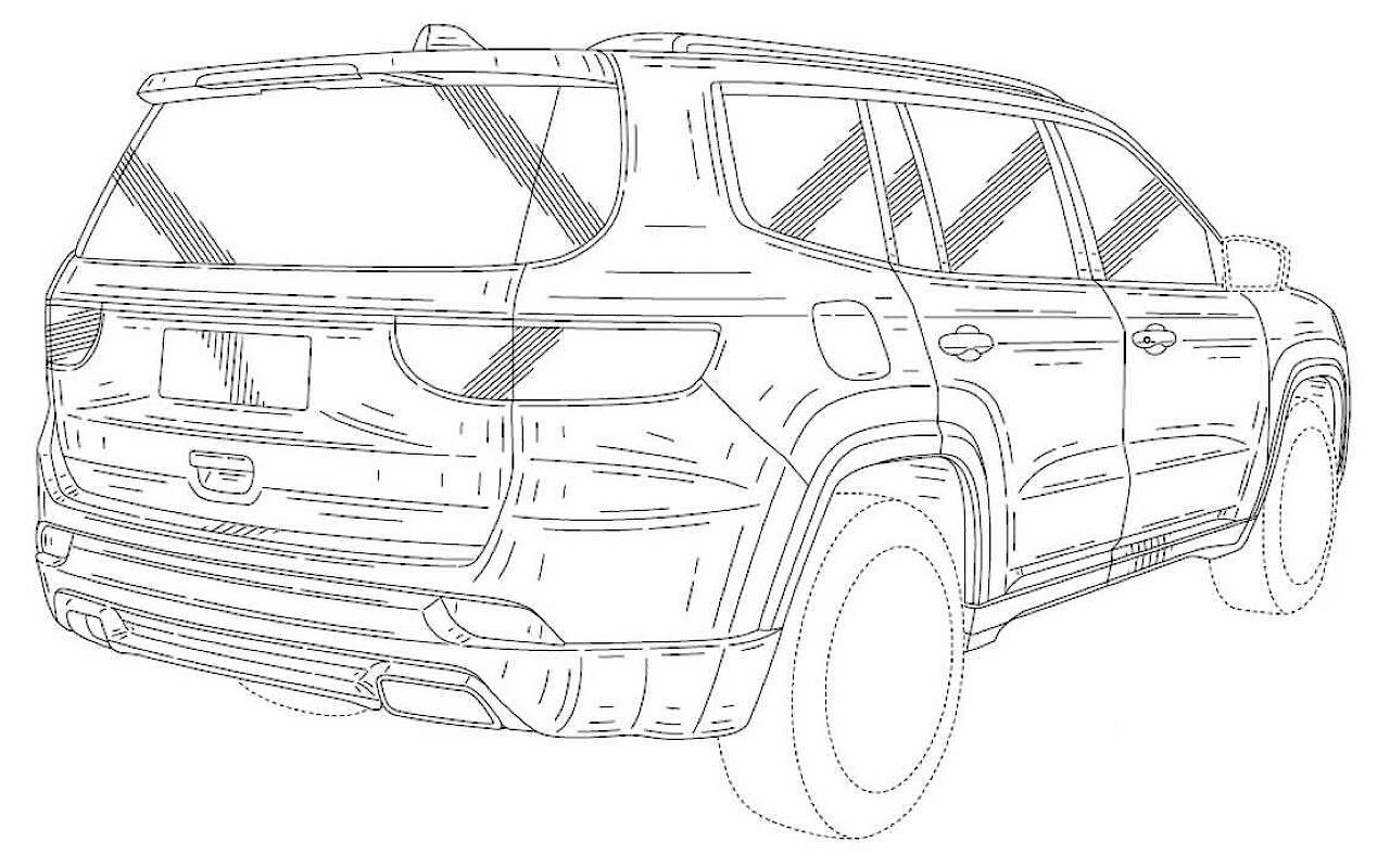 Размещены патентные изображения джипа Jeep Grand Wagoneer