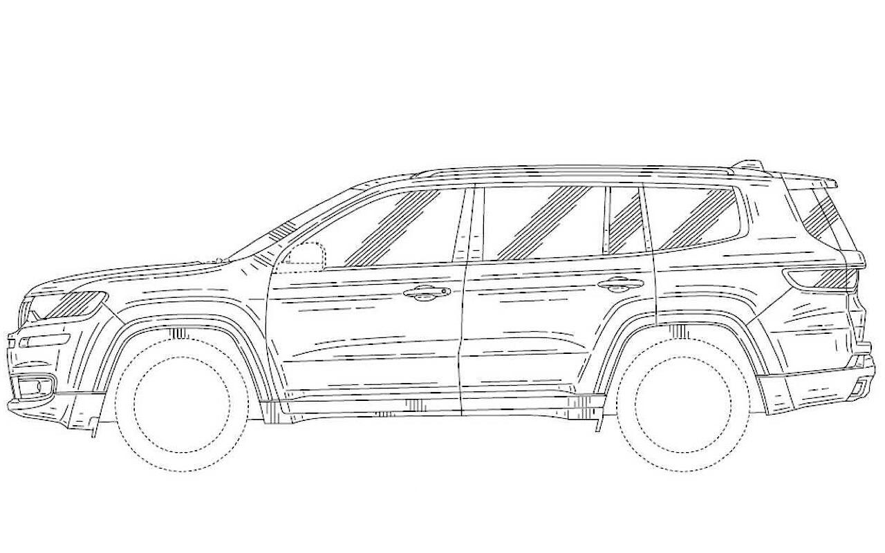 Jeep запатентовал дизайн 7-местного SUV: Grand Wagoneer или Yuntu?