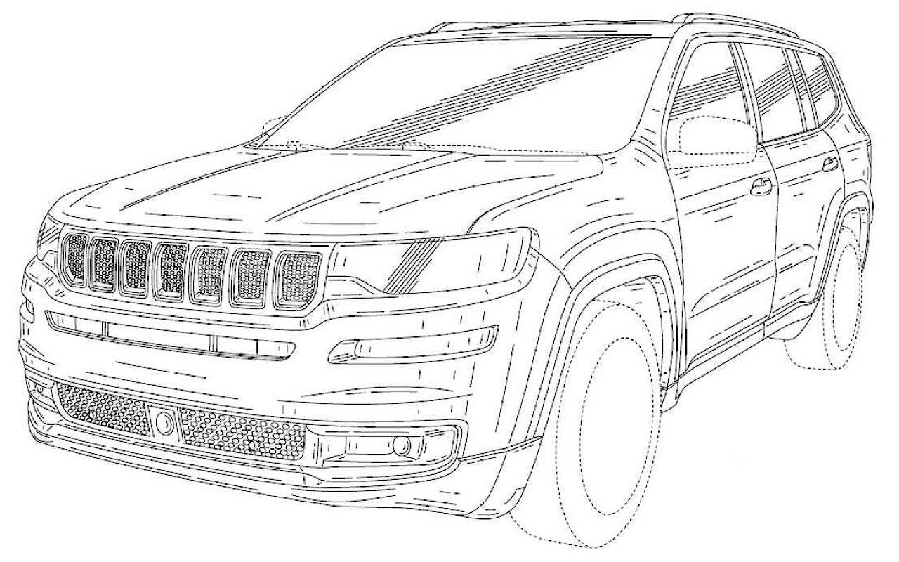 Размещены патентные изображения нового Jeep Grand Wagoneer