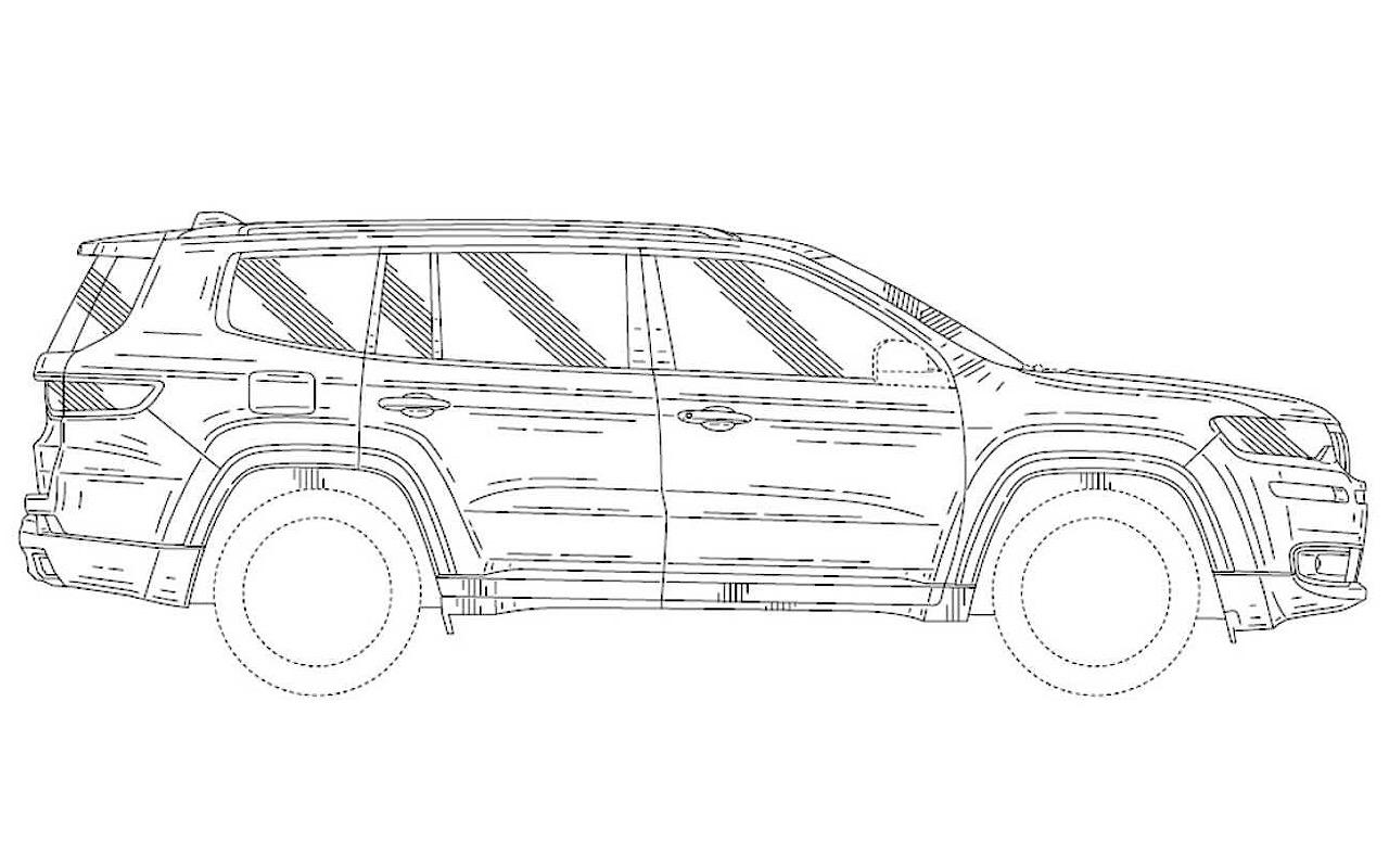 Патентные изображения рассекретили джип Jeep Grand Wagoneer
