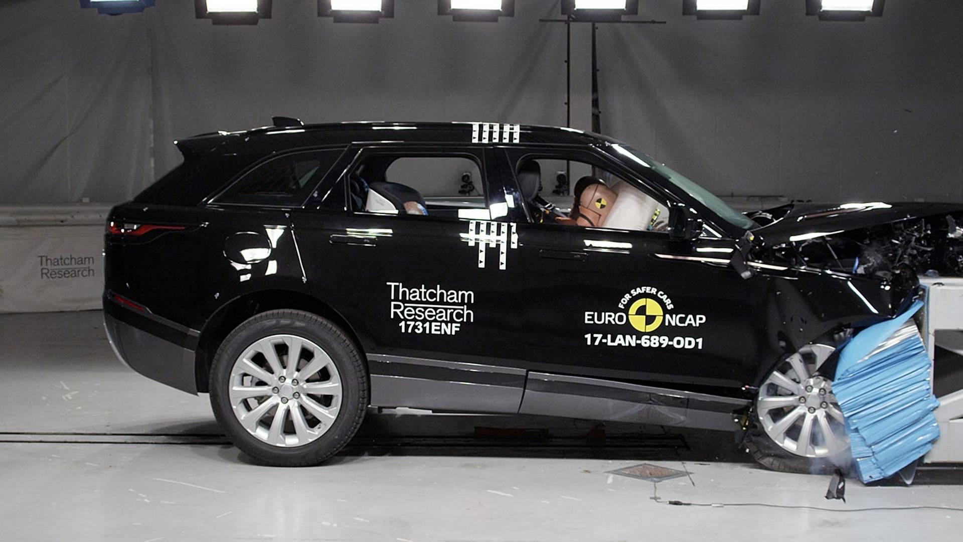 Кроссовер Range Rover Velar набрал 5 звезд вкраш-тестах Euro NCAP