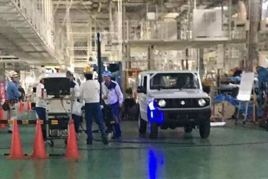 Suzuki Jimny нового поколения замечен на заводе в Японии