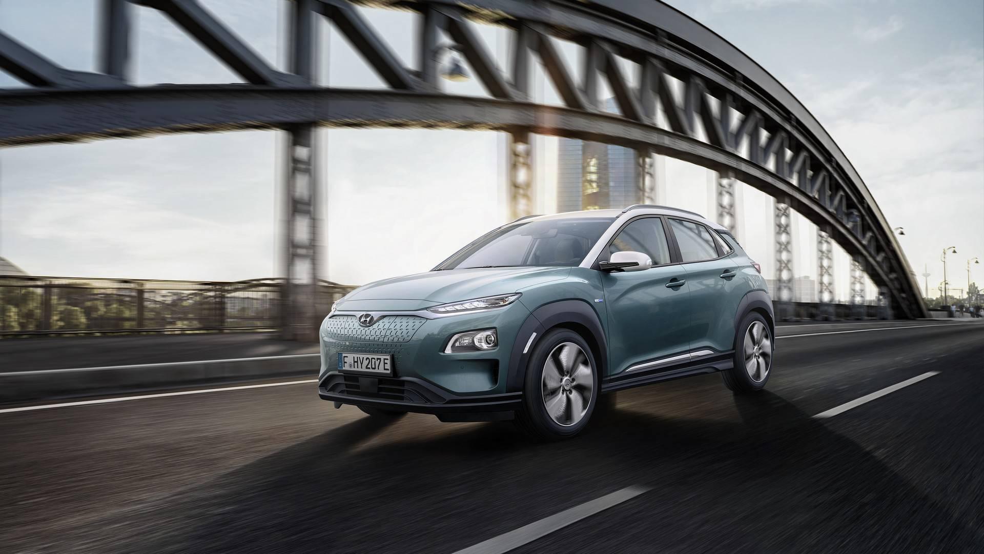 Электрический Hyundai Kona проедет 470 км без подзарядки