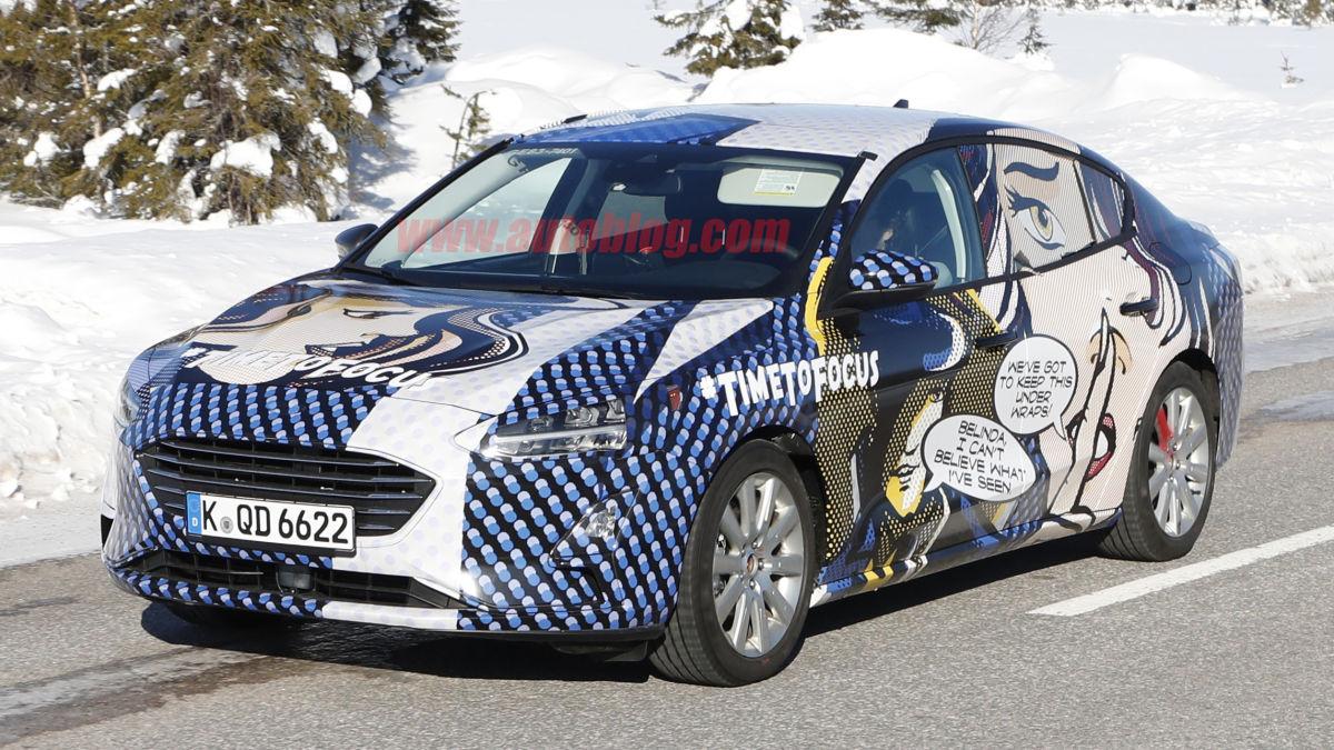 Новый Форд Focus в кузове седан заметили на тестах