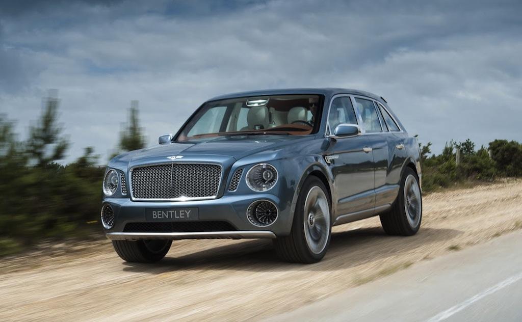 Новые фото кроссовера Bentley EXP 9 F