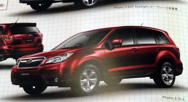 Японская брошюра Subaru Forester 2013