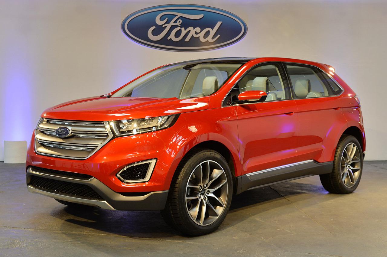 Фото с презентации Ford Edge 2015