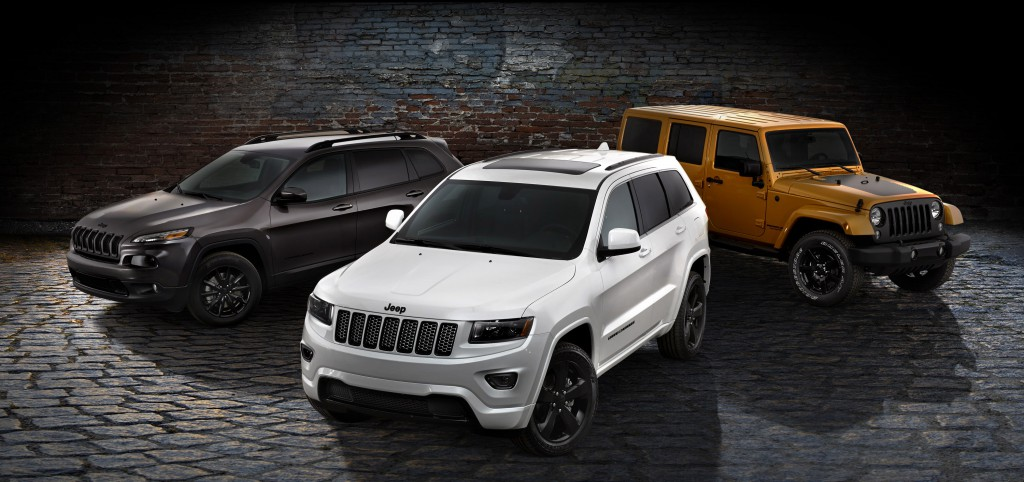 2014 Jeep Cherokee, Grand Cherokee and Wrangler Unlimited Altitu
