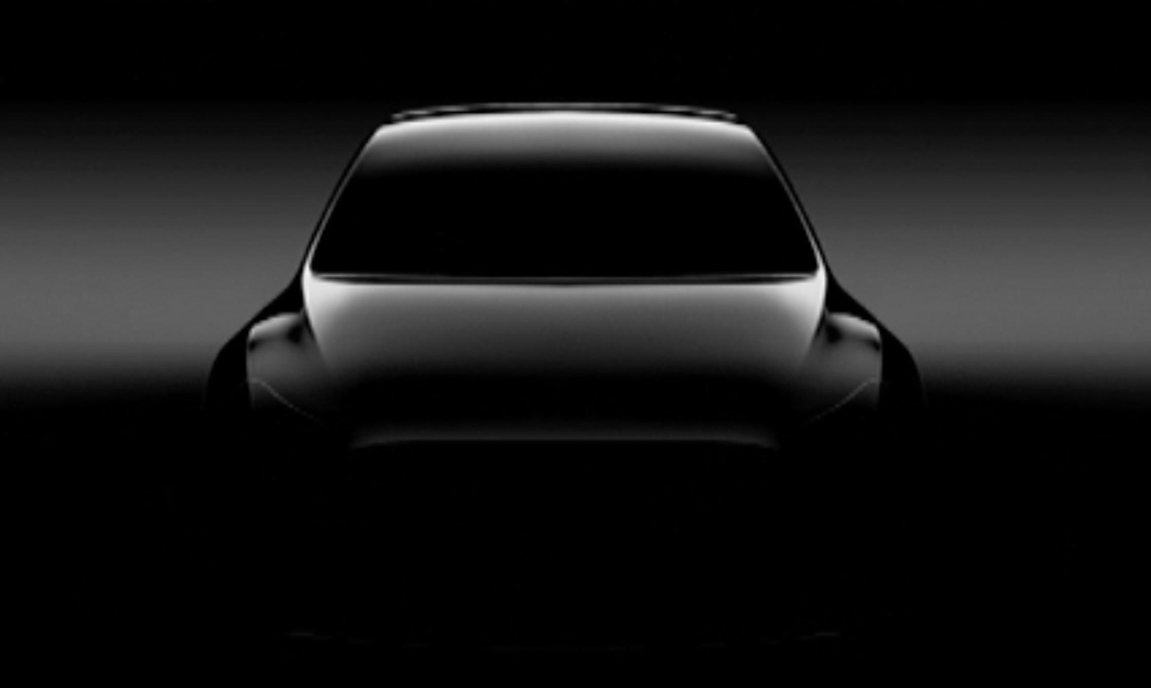 Tesla показала новое тизерное изображение кроссовера Model Y