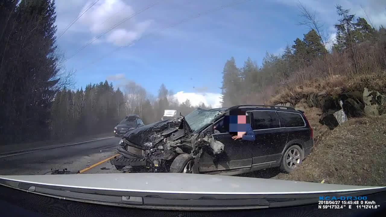 Volvo XC70 авария