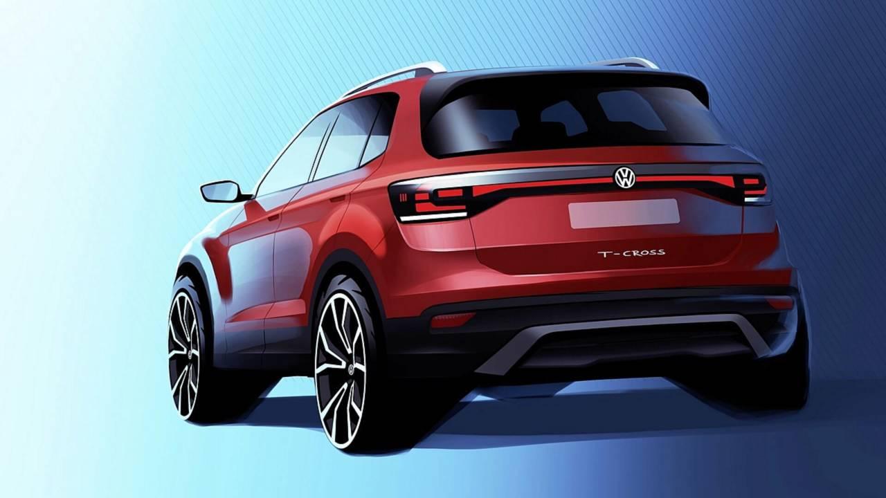 Volkswagen T-Cross показался на официальном «тизере»