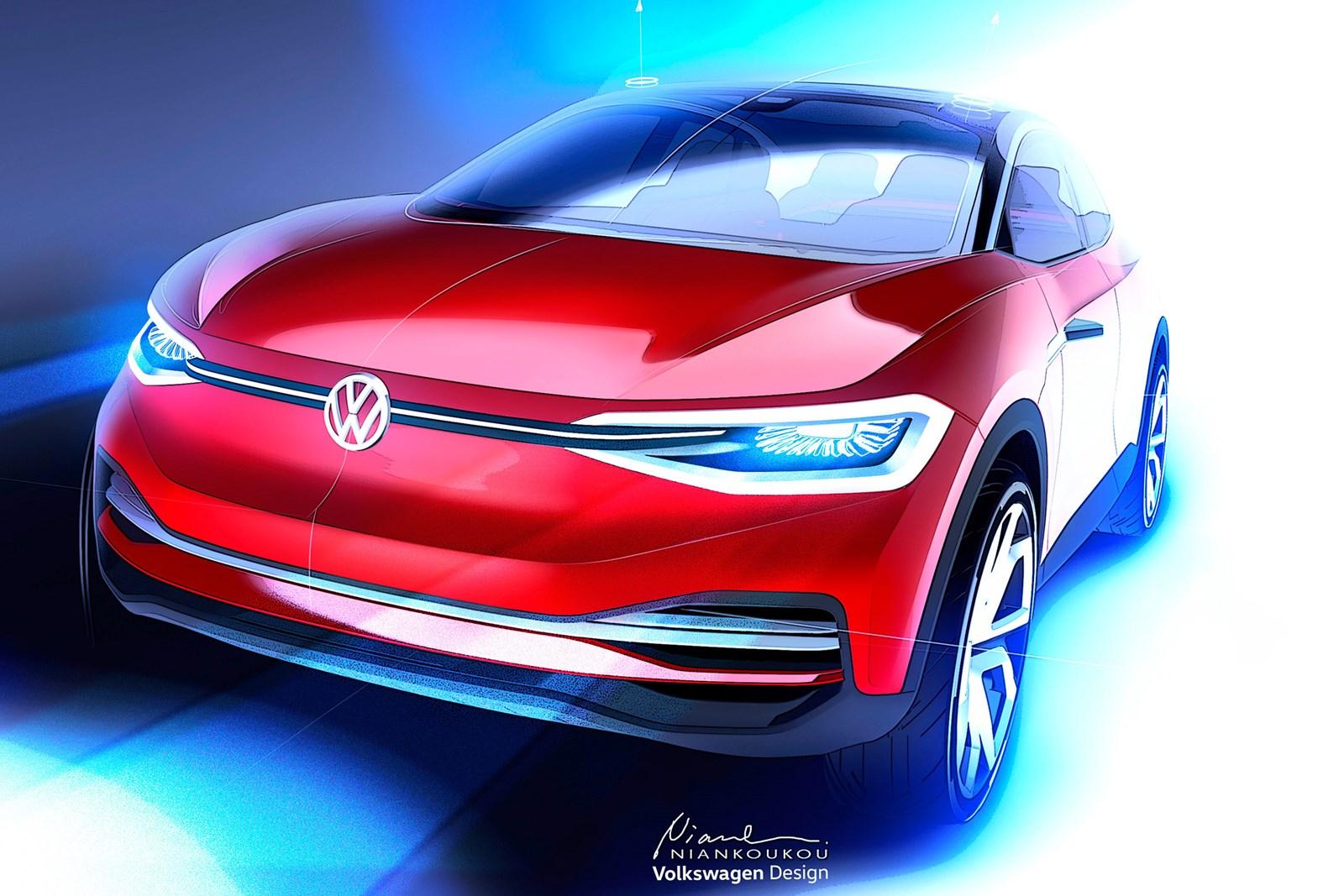 I.D. Lounge — большой электрический кроссовер Volkswagen выйдет в 2022 году