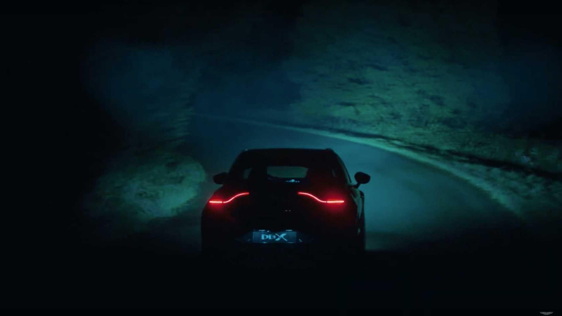 Ночной заезд Aston Martin DBX — новое видео перед дебютом 20 ноября