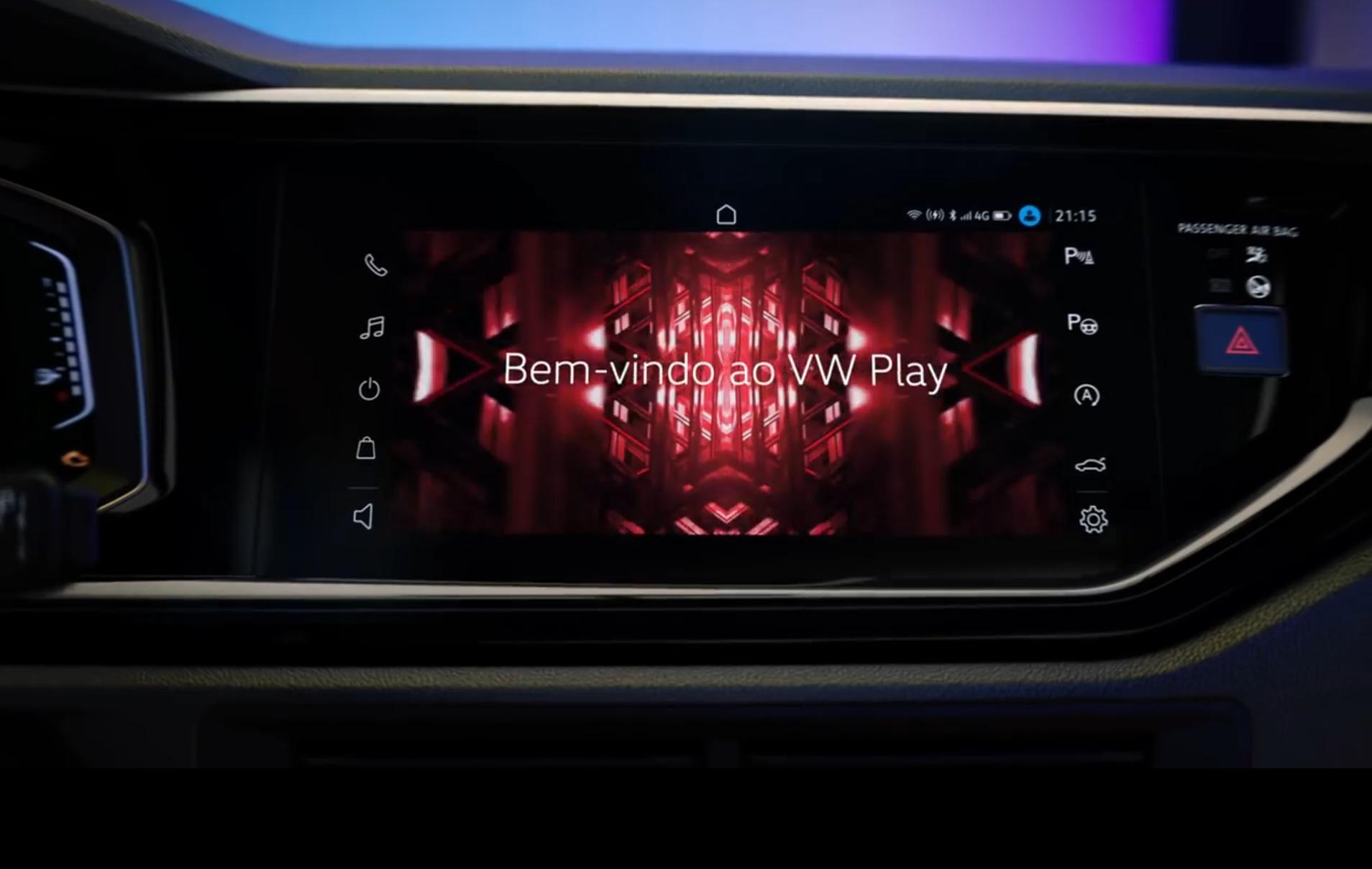 Новый городской кроссовер Volkswagen Nivus показал свою медиасистему
