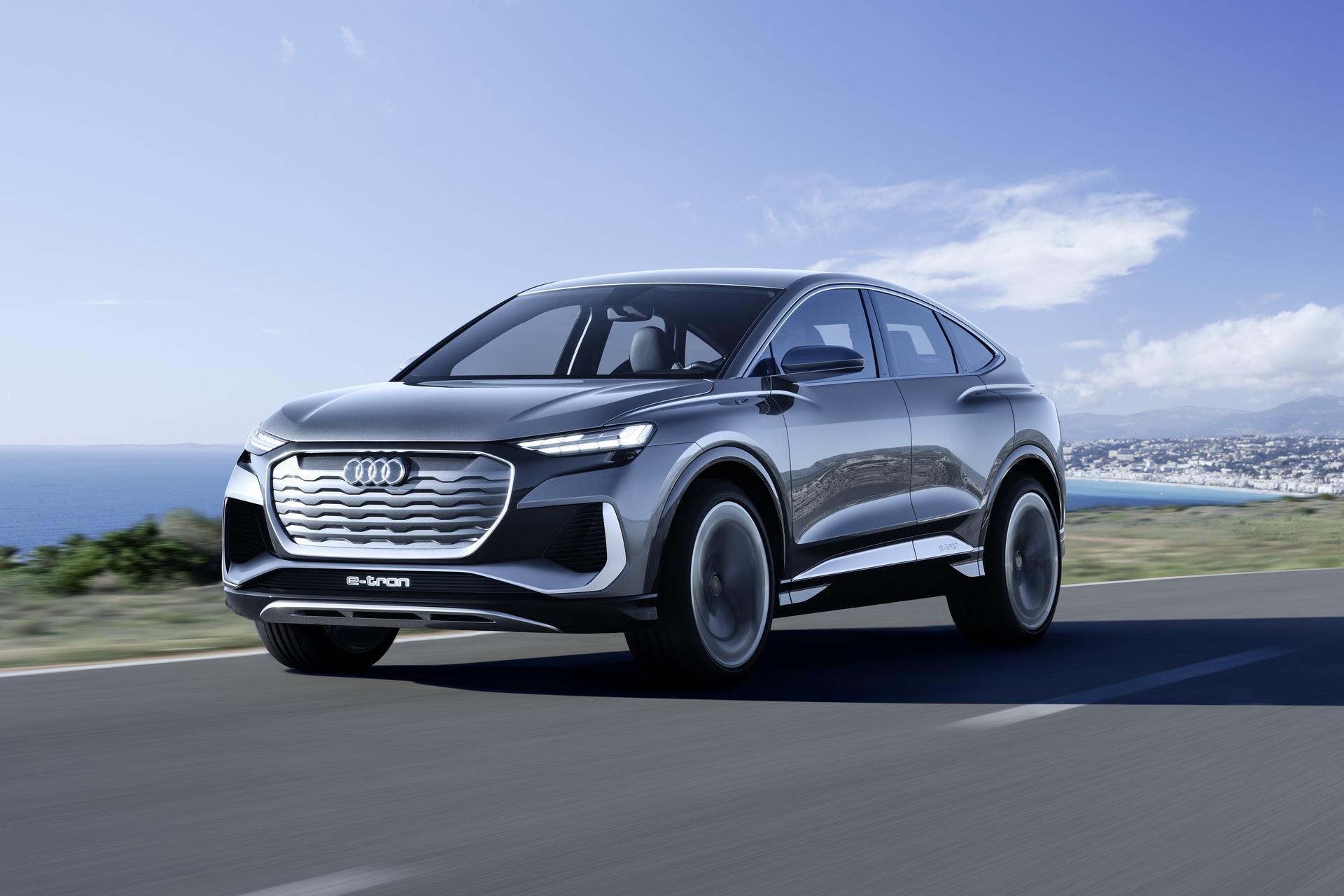 Audi отвоевывает землю у Tesla с концептом купеобразного кросса Q4 e-tron Sportback